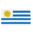 pixelated flag of uruguay vector image vector image