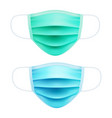 realistic medical respiratory mask face-guard vector image