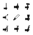 repair hand tool icon set simple style vector image vector image