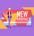 sale and new arrivals banner discount or special vector image