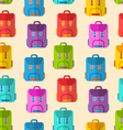 Seamless Pattern with Colorful School Rucksacks vector image vector image