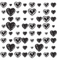 sensuality graphic with hearts vector image vector image
