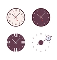 Set of four modern wall clocks vector image vector image