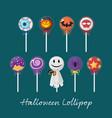 set of halloween lollipop vector image