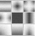 Set of nine monochrome square pattern designs vector image vector image