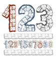 set of stylish digits modern numerals collection vector image