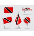 Set of Trinidad and Tobago pin icon map pointer vector image