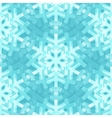 Shiny Blue Snowflakes Seamless Pattern for vector image