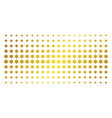 six-pointed star golden halftone array vector image