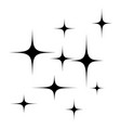 stars silhouette symbol icon design vector image vector image