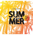 summer sale banner tropical background with palm vector image vector image