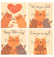 Sweet cards for Fathers Day with cats vector image