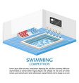 swimming competition template swimming vector image