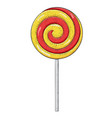 swirl lollipop sugar candy hand drawn sketch vector image vector image