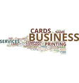 the elements of an effective business card text vector image vector image