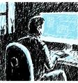the user man in dark vector image vector image