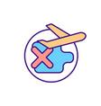 travel ban rgb color icon vector image