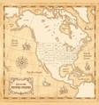 vintage us map vector image
