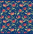 watercolor gloriosa rothschildiana pattern vector image vector image