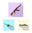 weapon and gun logo set of vector image