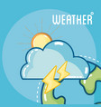 weather and forecast vector image vector image