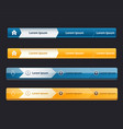 website design menu navigation elements with icons vector image