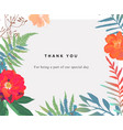 wedding floral background colorful invitation vector image
