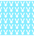 White Rabbit Blue Background vector image vector image