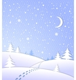 Winter background with falling snow vector image