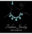 Woman and jewelry vector image vector image
