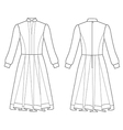 long sleeve dress vector image