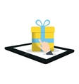 shopping online commerce gift virtual vector image