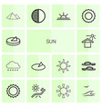 14 sun icons vector image vector image