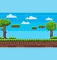 adventure map pixel game green nature vector image vector image