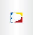 andorra map logo icon symbol vector image vector image