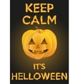 Background Keep Calm with Pumpkin for Halloween vector image vector image