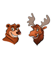 bear and moose vector image vector image