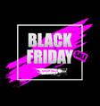 black friday sale horizontal banner vector image vector image