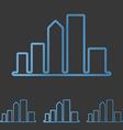 Blue line city logo design set vector image vector image
