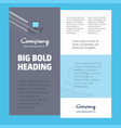boat business company poster template with place vector image vector image