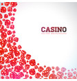 casino with floating dices on white vector image