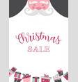 christmas santa poster or a card christmas sale vector image