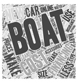Costs Of Owning A Boat Word Cloud Concept vector image vector image