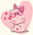 cute hippo girl vector image
