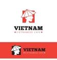 cute vietnam food restaurant logo vector image