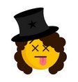 dead magician emoji with a hat vector image