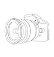 digital camera vector image vector image