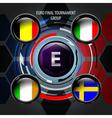European Flag Buttons E vector image vector image