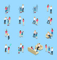 family problems isometric icons vector image