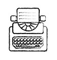 figure retro typewriter equipment with business vector image vector image